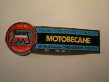 sticker MOTOBECANE vintage autocollant d époque