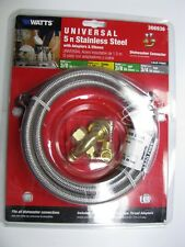 Universal Dishwasher Connector Watts 5ft. STAINLESS w/ Adapters Elbows 366936