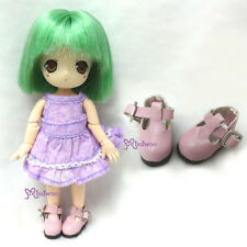 MIddie Blythe Hujoo Baby Obitsu 11cm Body Bjd School Maryjane Doll Shoes PINK