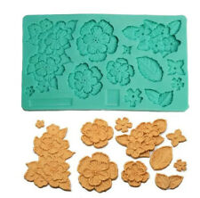 Silicone Vintage Embossed Rose Cookie Fondant Chocolate Mold DIY Kitchen
