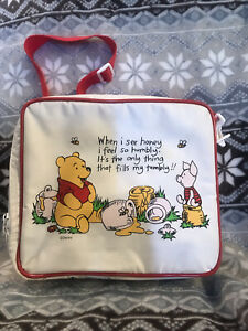 Vintage Disney Winnie the Pooh  Soft Sided Lunch Box With Flask