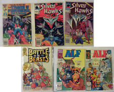 Transformers The Movie 1, Silver Hawks 1, 2, Battle Beasts 1, Alf 2, 3 80s Comic