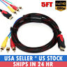 1080P HDMI Male to 3 RCA AV Cable Cord Adapter Converter Video Audio DVD US
