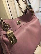 Coach  Turnlock Edie Pebble Leather  Shoulder Bag Jasmine Purple 36855