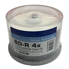 50 Ritek Blu ray BDR Bulkpack Jet d'Encre Imprimable 25 Go 130 m Vierge Disques 4x
