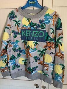 Kenzo Boys Jumper Age 10 Immaculate Designer Sweatshirt 😎😎
