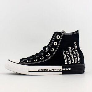 Converse All Star Hi Seek Peace Men's Athletic Casual Skate Sneaker Black Shoe