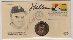 Baseball Roger Maris & Hank Aaron Autographed 1969 FDC w/ COA