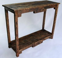 Sofa Table Handmade Reclaimed Pallet Wood- UpCycled  - Vintage, Rustic Look