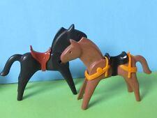 PLaymobil* 2 Stück Pferd Schmuck  + Sattel 4866 4865 3269 3268 Ritterburg 3666