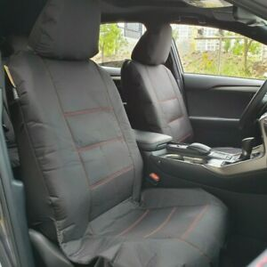 Canvas Seat Covers For Lexus Models, Black Waterproof Full Set Airbag Safe