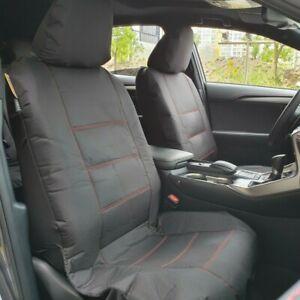 Canvas Seat Covers For Lexus ES Models, Black Waterproof Full Set Airbag Safe