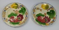 Belle Fiore Solian Ware 521 Simpsons Pottery 9.5 Inch Dinner Plates x 2