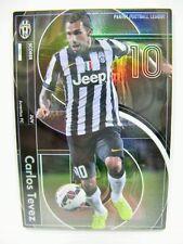 Panini Football League PFL 09 SCORER 120 Carlos Tevez Juventus Refractor insert