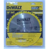 DEWALT DW3112 Series 20 10-Inch 24 Tooth ATB Thin Kerf Saw Blade with 5/8-Inch A