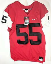 Nike College Game Football Jersey Mens Size Large Red & White 55 NCAA New Tags