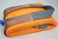 """12"""" x 16' Orange Heavy Duty Nylon Sling Tow Recovery Strap 24,000 lbs Single Ply"""