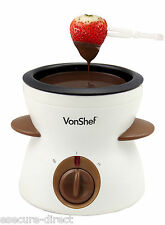 VonShef Electric Chocolate Fondue Melting Pot Warmer Fountain Cheese Melter