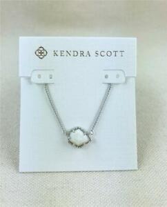Kendra Scott Tess White Shell Silver Necklace