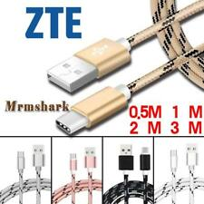 Braided 0.5M-3M Type C USB-C Charging Data Sync Charger Cable For ZTE Axon 7