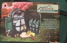PICNIC ESSENTIALS BACKPACK 4 Placr Settings/Cooler/Wine Pouch! Retail $90-100