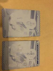 Star Wars Printing Plate X2 - Black - Jan Dodonna - Rare 1 Of 1