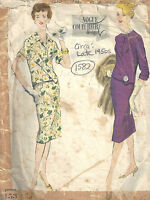 1950s Vintage VOGUE Sewing Pattern B34 TWO-PIECE DRESS SKIRT & TOP (1582)