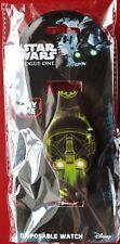 Star Wars Rogue muerte Trooper LED Reloj Desechables * Nuevo * Disney