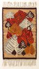 FALLEN LEAVES Vintage Hand Loomed Polish Folk Art Textile Wall Hanging Cepelia
