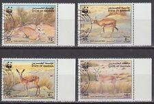 Bahrain 1993 used Mi.511/14 Tiere Animals Gazelle Naturschutz Protection [g2181]