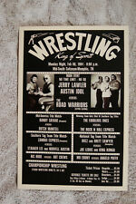 Jerry Lawler Austin Idol  vs The Road Warriors Wrestling Poster 1980s