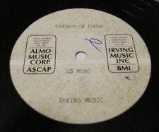 "PAUL WILLIAMS - Kingdom Of Fools 45 acetate 10"" Jack Conrad 1970 ALMO MUSIC"