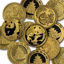 China 1/20 oz Gold Panda BU (Random Year, Not Sealed) - SKU #26852