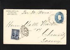 Heinz Lowy & Co NY City 1889 Uprated Garfield PSE per Steamer Werra Saxony Z7