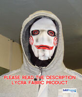 Halloween Face Mask - Scary Horror Saw Face Fancy Dress - Lycra Fabric Snood