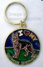 GERMAN SHEPHERD Dog Key Ring Keychain Key Chain NEW! Animal Pet