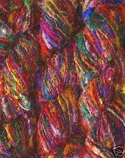 100g. Himalaya Recycled PURE SARI Silk Yarn Knitting crochet woven