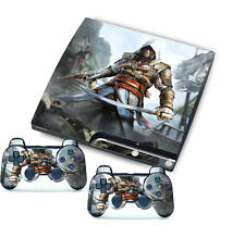 Newest Game Custom Stickers Skins for PlayStation 3 PS3 Slim + 2 Controller Skin