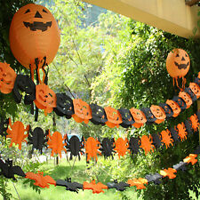 Newly Hot Halloween Paper Garland Home Bar Pub Props Decorations Brand New
