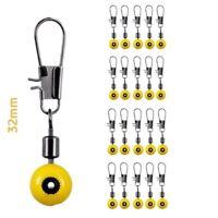 20 Stück PERLEN-LAUF-WIRBEL für Angelpose Blei Futterkorb Posenadapter Posen