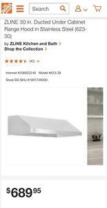 """Brand New In Box ZLINE 30"""" Under Cabinet Stainless Steel Range Hood 623-30"""