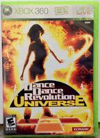 """Dance Dance Revolution Universe"" XBox 360 Complete NM Disc"