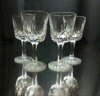 "TRUE VINTAGE! Set of 4 Waterford Port Wine 4 1/4"" Sherry Cordial Glasses Crystal"