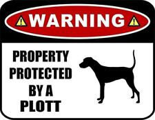 Warning Property Protected by a Plott (Silhouette) Laminated Dog Sign
