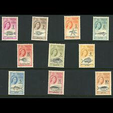TRISTAN DA CUNHA 1961 Short Set to 10c. SG 42-51. Lightly Hinged Mint. (WB912)