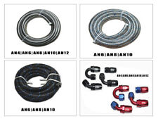20FT FUEL HOSE AN4 6 8 10 12  FITTING STAINLESS STEEL NYLON BRAIDED E85 OIL LINE