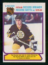 1980-81 O PEE CHEE RAY BOURQUE RB NO:2  NEAR MINT    LOT 373
