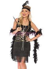 OP Ladies Costume Fancy Dress 20s Flapper Gatsby Gangster 191 Black Gold Sz 8-22