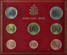 41767) Vatikan Euro - KMS 2004, von 1 Cent bis 2 Euro, Ausgabefolder, st.