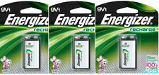3 Pack Energizer 9V Rechargeable Battery NH22NBP NiMH 8.4V- 175mAh